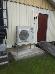 Mitsubishi Electric Ecodan vilp ilmavesilämpöpumppu ilma-vesilämpöpumppu asennus pudasjärvi oulu lappi huolto lvi